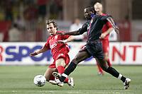 Fotball<br /> Foto: Dppi/Digitalsport<br /> NORWAY ONLY<br /> <br /> UEFA SUPER CUP 2005<br /> <br /> LIVERPOOL FC v CSKA MOSKVA<br /> <br /> 26/08/2005<br /> <br /> CHIDI ODIAH (CSKA) / BOUDEWIJN ZENDEN (LIV)