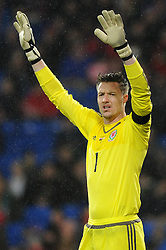 Wayne Hennessey of Wales - Mandatory by-line: Dougie Allward/JMP - Mobile: 07966 386802 - 24/03/2016 - FOOTBALL - Cardiff City Stadium - Cardiff, Wales - Wales v Northern Ireland - Vauxhall International Friendly