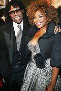 l to r: Nile Rodgers and Tamika Ray at The Q-Tip Album release party sponsored by Target held at The Bowery Hotel in NYC on October 28, 2008
