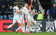 Sheffield United's Oliver Norwood celebrates after scoring the opening goal during the Premier League match at Selhurst Park, London. Picture date: 1st February 2020. Picture credit should read: Paul Terry/Sportimage