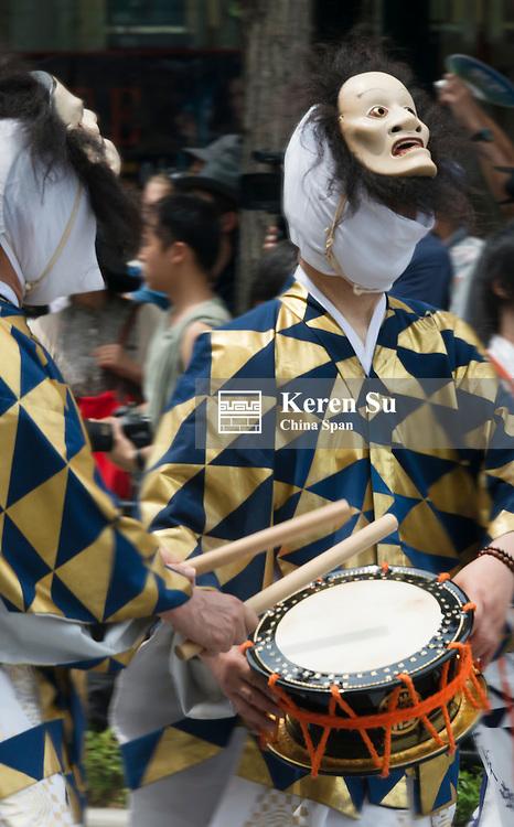 Parade during Kyoto Gion Matsuri, Kyoto, Japan