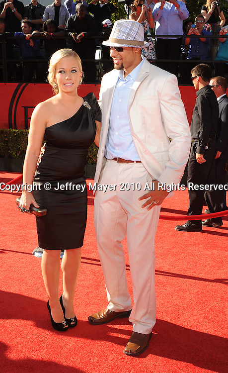 LOS ANGELES, CA. - July 14: Kendra Wilkinson (L) and husband Hank Baskett  arrive at the 2010 ESPY Awards at Nokia Theatre L.A. Live on July 14, 2010 in Los Angeles, California.