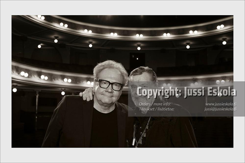 Legendary actor and musician Vesa-Matti Loiri (right) with Jari Tervo, writer of his biography. Helsinki, September 12, 2019.