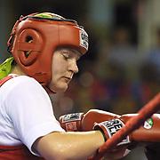 2. WOMEN'S WORLD BOXING CHAMPIONSHIPS.<br /> Denmark's Bettina Karlsen  semi final  winner. Dilek Sabanci Sport Hall Antalya/Turkey<br /> Photo by Aykut AKICI/TurkSporFoto