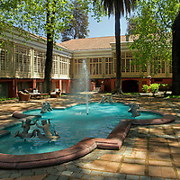 South America, Chile, Santiago. Casa Real Hotel at Santa Rita Winery.
