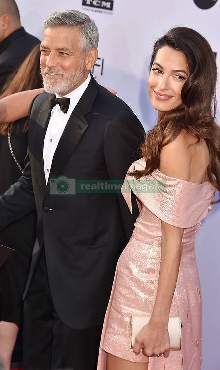 American Film Institute's 46th Life Achievement Award Gala Tribute To George Clooney at the Dolby Theatre on June 7, 2018 in Hollywood, California. 07 Jun 2018 Pictured: George Clooney, Amal Clooney. Photo credit: Jeffrey Mayer/JTMPhotos, Int'l. / MEGA TheMegaAgency.com +1 888 505 6342