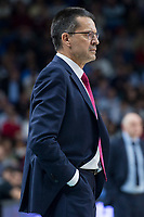 Baskonia Vitoria coach Pedro Martinez during Turkish Airlines Euroleague match between Real Madrid and Baskonia Vitoria at Wizink Center in Madrid, Spain. January 17, 2018. (ALTERPHOTOS/Borja B.Hojas)