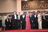 The cast and director on the red steps at The Paperboy gala screening red carpet at the 65th Cannes Film Festival France. Thursday 24th May 2012 in Cannes Film Festival, France.