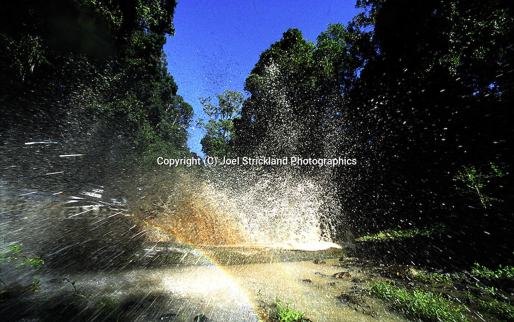 Simon & Sue Evans.Subaru Impreza WRX.2003 Falken Rally of Queensland.Imbul State Forest, QLD.13th-15th of June 2003 .(C) Joel Strickland Photographics