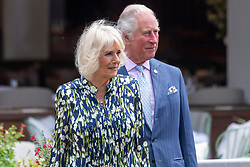 © Licensed to London News Pictures. 27/05/2021. London, UK. HRH The PRINCE OF WALES and The DUCHESS OF CORNWALL visit Old Clapham Town to celebrate the High Street and retail sector as non-essential shops reopen and Coronavirus restrictions ease. Photo credit: London News Pictures