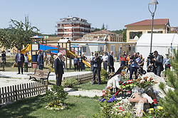 August 2, 2017 - Amatrice, Italy - Italian president Sergio Matterella visits Amatrice after devastating earthquake, in Amatrice, Italy, on August 2, 2017. An earthquake, measuring 6.1 magnitude earthquake struck the town and nearby villages in Italy in the early hours of August 24. (Credit Image: © Fabrizio Di Nucci/NurPhoto via ZUMA Press)