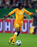Fotball<br /> Tyskland v Elfenbenskysten<br /> Foto: Witters/Digitalsport<br /> NORWAY ONLY<br /> <br /> 18.11.2009<br /> <br /> Gervinho<br /> Fussball Elfenbeinkueste