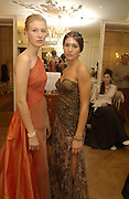 Marquise Francesca dal Pozzo d'Annone and Margherita Missoni. Crillon Debutantes Ball 2002. Paris. 7 December 2002. © Copyright Photograph by Dafydd Jones 66 Stockwell Park Rd. London SW9 0DA Tel 020 7733 0108 www.dafjones.com