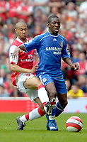 Photo: Ed Godden/Sportsbeat Images.<br /> Arsenal v Chelsea. The Barclays Premiership. 06/05/2007.<br /> Arsenal's Gael Clichy (L), challenges Shaun Wright-Phillips.