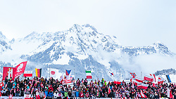 17.12.2017, Gross Titlis Schanze, Engelberg, SUI, FIS Weltcup Ski Sprung, Engelberg, im Bild Zuschauer mit Fahnen // Spectators with Flags during Mens FIS Skijumping World Cup at the Gross Titlis Schanze in Engelberg, Switzerland on 2017/12/17. EXPA Pictures © 2017, PhotoCredit: EXPA/JFK