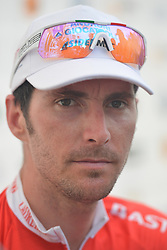 March 24, 2018 - Italian cyclist Manuel Belletti from Androni Giocattoli Sidermec Team durin g the press conference at the end of the seventh stage, the 222.4 km from Nilai to Muar, of the 2018 Le Tour de Langkawi. .On Saturday, March 24, 2018, in Muar, Malaysia. (Credit Image: © Artur Widak/NurPhoto via ZUMA Press)