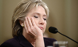 File photo : Former US Secretary of State and Democratic Presidential hopeful Hillary Clinton testifies before the House Select Committee about the 2012 Benghazi, Libya attack, on Capitol Hill in Washington, DC, USA on October 22, 2015. Republicans questioned Clinton, seeking to build a case that the former secretary of state had been derelict in her duty to secure the American diplomatic mission in Benghazi in the months before the terrorist attacks. The Benghazi attack took place on the evening of September 11, 2012, when Islamic militants attacked the American diplomatic compound in Benghazi, killing U.S. Ambassador J. Christopher Stevens and U.S. Foreign Service Information Management Officer Sean Smith. Photo by Olivier Douliery/ABACAPRESS.COM