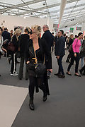 AMANDA ELIASCH, Frieze opening day. Regent's Park. London. 2 October 2019