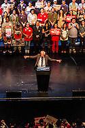 Bernie Sander speaks in Los Angeles at the Wiltern Theatre.