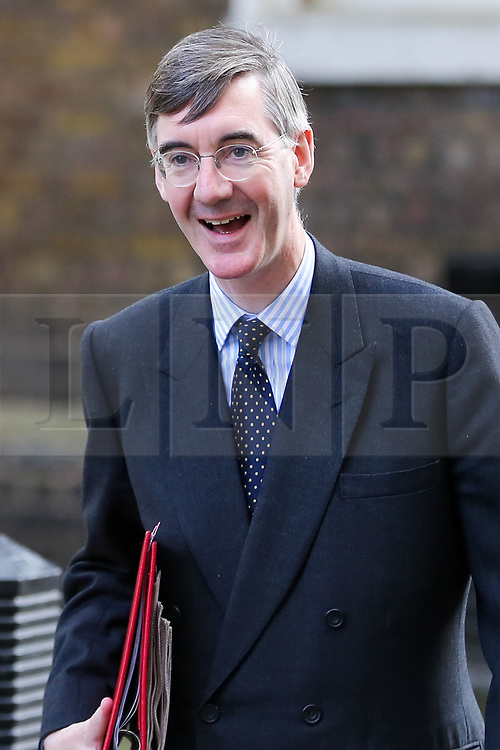 © Licensed to London News Pictures. 10/09/2019. London, UK. Leader of The House of Commons JACOB REES-MOGG  departs from No 10 Downing Street after attending the weekly Cabinet Meeting. Photo credit: Dinendra Haria/LNP