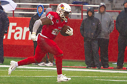 NORMAL, IL - October 26: James Robinson makes the secondary with room to spare on a run that gains 41 yards in the 2nd quarter during a college football game between the ISU (Illinois State University) Redbirds and the Indiana State Sycamores on October 26 2019 at Hancock Stadium in Normal, IL. (Photo by Alan Look)