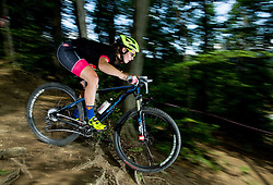 Tina Perse during Cross Country XC Mountain bike race for Slovenian National Championship in Kamnik, on July 12, 2015 in Kamnik,  Slovenia. Photo by Vid Ponikvar / Sportida