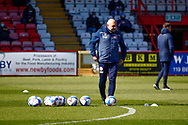 Dean Wilkins Assistant Manager of Stevenage FC during the warm up during the EFL Sky Bet League 2 match between Stevenage and Bradford City at the Lamex Stadium, Stevenage, England on 5 April 2021.