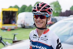 Happy with the team performance and her third place, Ashleigh Moolman Pasio at Boels Hills Classic 2016. A 131km road race from Sittard to Berg en Terblijt, Netherlands on 27th May 2016.