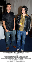 Artists TIM NOBLE and SUE WEBSTER at an exhibition in London on 2nd February 2004.<br /> PRF 1