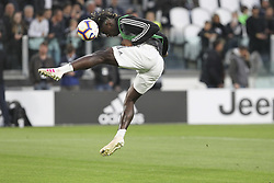 May 3, 2019 - Turin, Piedmont, Italy - Moise Kean (Juventus FC) before the Serie A football match between Juventus FC and Torino FC at Allianz Stadium on May 03, 2019 in Turin, Italy..Final results: 1-1. (Credit Image: © Massimiliano Ferraro/NurPhoto via ZUMA Press)