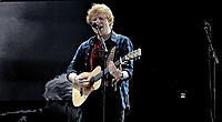 Ed Sheeran live  on The Pyramid Stage at Glastonbury Festival 2014, Worthy Farm, Pilton, Somerset, UK photo by David Court