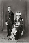 wedding with man in western style clothing Japan 1940s