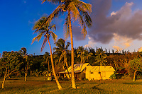 A house near the beach at Pede, island of Mare, Loyalty Islands, New Caledonia