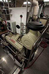 Engine on Fishing Boat, Kodiak Island, Alaska, US