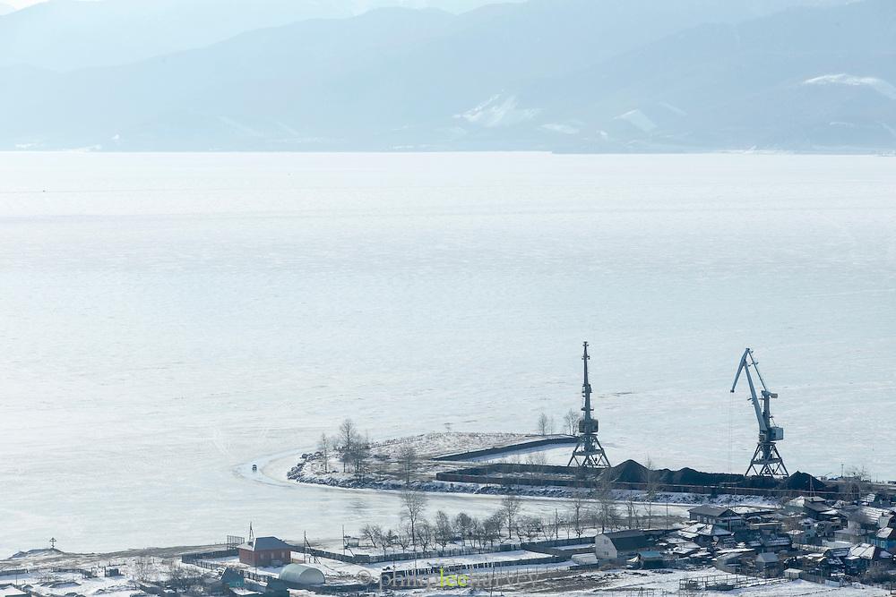 Port Baykal on the shores of Lake Baikal, Siberia, Russia