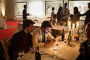 DAVID BIRKIN; CONRAD SHAWCROSS, Private viewing of ' The Rake's Progress' in plasticine by Henry Hudson. 4a Roach Rd. London E3. <br /> <br />  , -DO NOT ARCHIVE-© Copyright Photograph by Dafydd Jones. 248 Clapham Rd. London SW9 0PZ. Tel 0207 820 0771. www.dafjones.com.