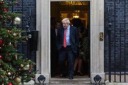 London, December 19 2017. Foreign Secretary Boris Johnson leaves 10 Downing Street following the last cabinet meeting before the Christmas break. © Paul Davey