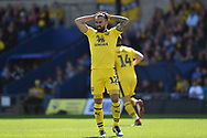 Oxford United midfielder (on loan from Sheffield United) Ricky Holmes) (12) during the EFL Sky Bet League 1 match between Oxford United and Coventry City at the Kassam Stadium, Oxford, England on 9 September 2018.