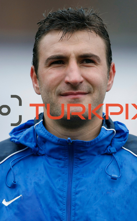 Eyupspor's Mustafa Cicek during their Turkey Cup matchday 3 soccer match Eyupspor between Eskisehirspor at Eyup Stadium in Istanbul Turkey on Wednesday, 11 January 2012. Photo by TURKPIX