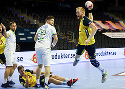 Jim Gottfridsson of Sweden during handball match between National Teams of Sweden and Slovenia at Day 3 of IHF Men's Tokyo Olympic  Qualification tournament, on March 14, 2021 in Max-Schmeling-Halle, Berlin, Germany. Photo by Vid Ponikvar / Sportida