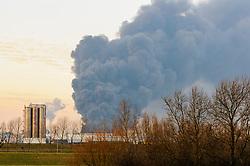 Brand bij Chemie-Pack, 5 januari 2011, Moerdijk, Noord Brabant, Netherlands