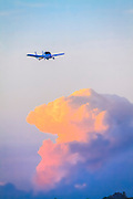 """The Terrafugia """"flying car"""" on final approach during AirVenture 2013 in Oshkosh, Wisconsin."""