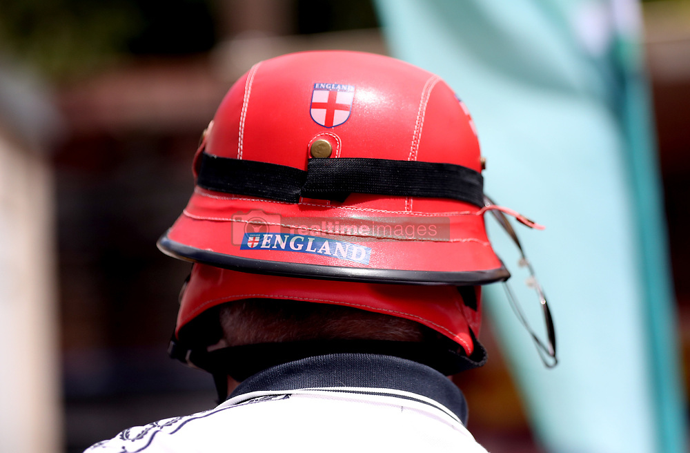 A general view of an England fans hat during the ICC Cricket World Cup group stage match at Headingley, Leeds.