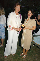 Left to right, RACHEL BILLINGTON and MRS BORIS JOHNSON at a party to celebrate the publication of Notting Hell by Rachel Johnson held in the gardens of 1 Rosmead Road, London W11 on 4th September 2006.<br /><br />NON EXCLUSIVE - WORLD RIGHTS