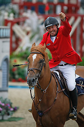 Lejeune Philippe (BEL) - Vigo d'Arsouilles<br /> European Championship Jumping Windsor 2009<br /> © Hippo Foto - Dirk Caremans