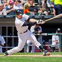 Chicago, IL - June 05, 2011:  Chicago White Sox, Brent Lillibridge (18), bats against the Detroit Tigers at U.S. Cellular Field on June 5, 2011 in Chicago, IL.