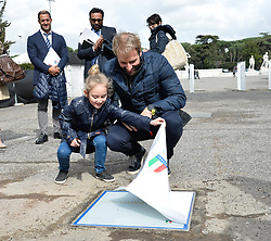 March 12, 2018 - Rome, Italy - The swimmer Massimiliano Rosolino during the ceremony Walk of Fame in Rome, Italy, on 12 March 2018. The Walk of Fame is enriched with 5 more samples. Along the Via Olimpiadi, which leads straight to the Olympic stadium in Rome, new plates have been added dedicated to five blue champions no longer in business: the historic Milan captain and national defender, soccer player Paolo Maldini, the swimmer Massimiliano Rosolino, the middle distance runner Luigi Beccali, the cyclist Ercole Baldini and the volleyball player Samuele Papi. (Credit Image: © Silvia Lore/NurPhoto via ZUMA Press)