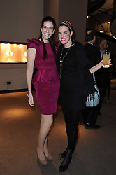 Left to right, COUNTESS NATHALIE VON BISMARCK and VICTORIA AITKEN at a party to celebrate the publication of Nathalie Von Bismarck's  book 'Invisible' held at Asprey, 167 New Bond Street, London on 9th December 2010.