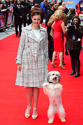 Ashleigh & Pudsey arrives for the world premiere of Postman Pat at Leicester Square, London, United Kingdom. Sunday, 11th May 2014. Picture by Nils Jorgensen / i-Images