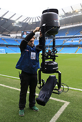 19th March 2017 - Premier League - Manchester City v Liverpool - A Sky Sports technican adjusts the SpiderCam overhead camera before the match - Photo: Simon Stacpoole / Offside.